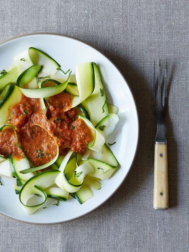 Zucchini Pasta Marinara