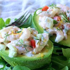 Shrimp Salad - Stuffed Avocados