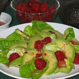 Avocado and Romaine with Raspberry Vinaigrette