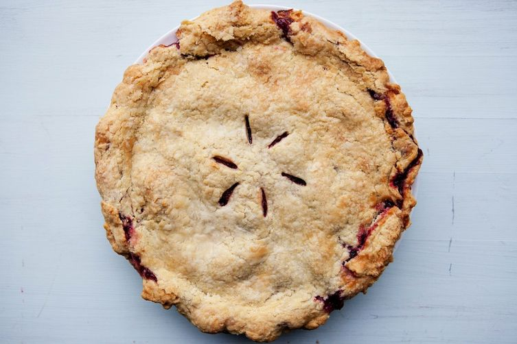 Plum and Raspberry Pie