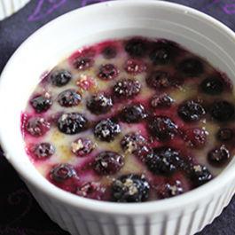 Blueberries 'n Creme Brulee