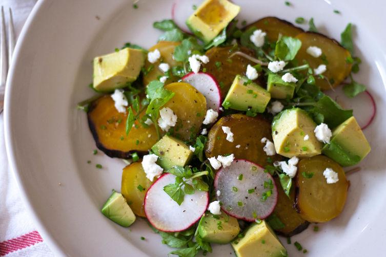 Avocado & Roast Golden Beet Salad