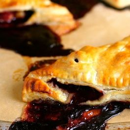 Blueberry-rhubarb-turnovers