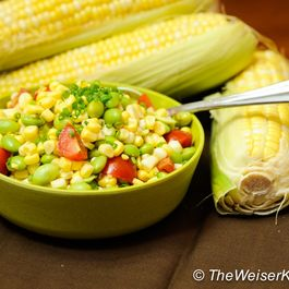 Raw Corn and Edamame Summer Salad