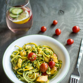 Summer Pesto Noodle Salad