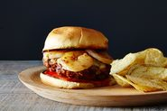 Mexican Chorizo and Garlic Shrimp Burger