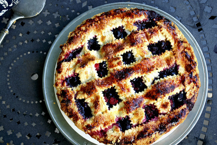 Wild Berry Pie with Cassis