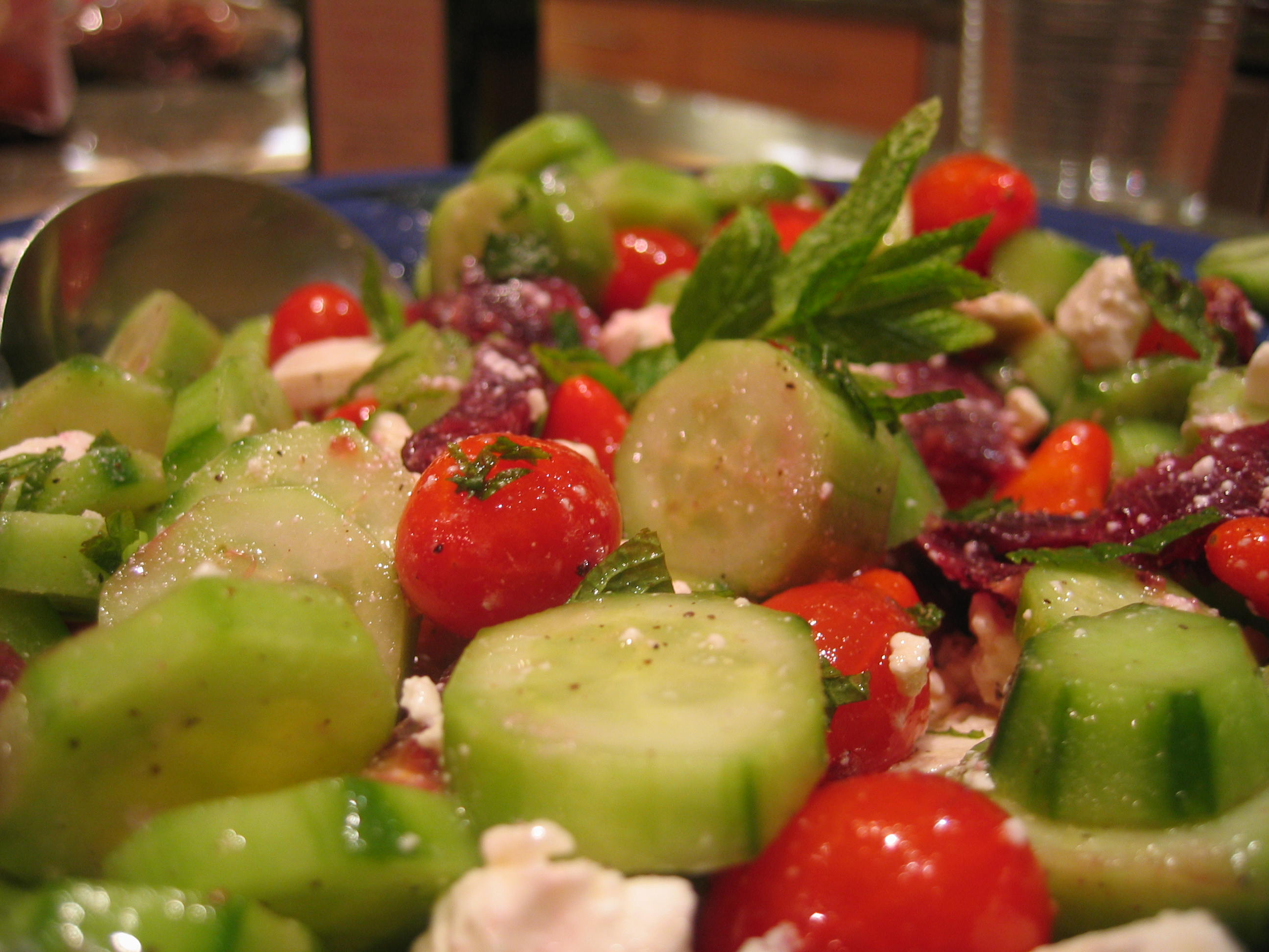 Cucumber, Bulgarian Feta, Blood Orange & Mint Salad