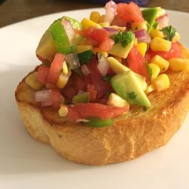 Salted Watermelon Salsa on Texas Toast