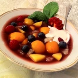 Chilled Summer Fruit & Berry Gazpacho