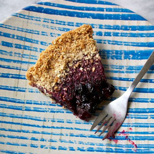 Heda's Mostly Blackberry Pie with Hazelnut Crumb Crust