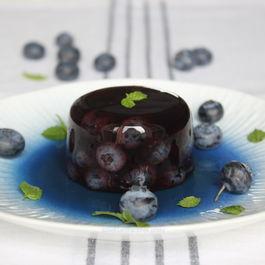 Blueberry aspic