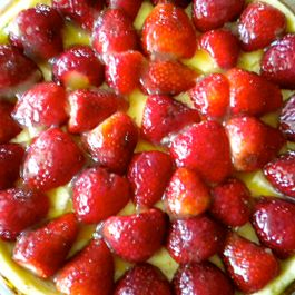 Strawberry-Orange Cheesecake with a Shortbread Cookie Crust