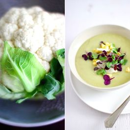 Cauliflower-garlic-scape-soup