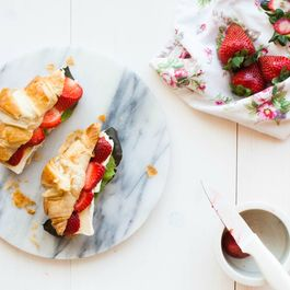 Croissants Filled with Brie & Strawberries