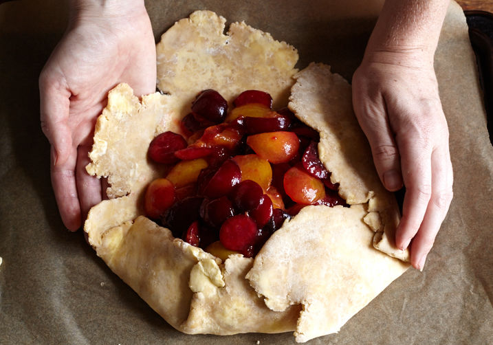 Plum Galette with Whole-Wheat Crust on Food52