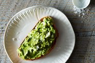 Avocado, Feta, and Mint on Sourdough Toast