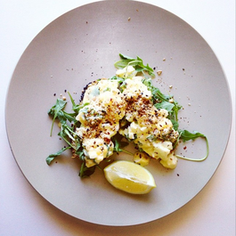 Turkish-style egg smash with dukkah
