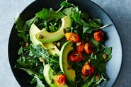 Avocado with Pomegranate Molasses, Tomatoes, Citrus, and Basil