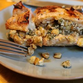 Poblano and Corn Stuffed Chicken