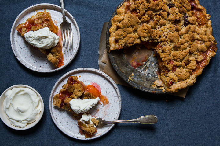 Apricot and Peach Crumble