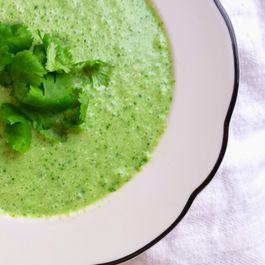 Cucumber Spinach and Feta Soup
