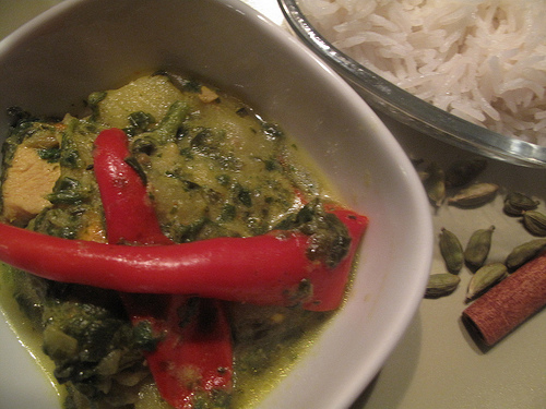 Saag Chicken Stew