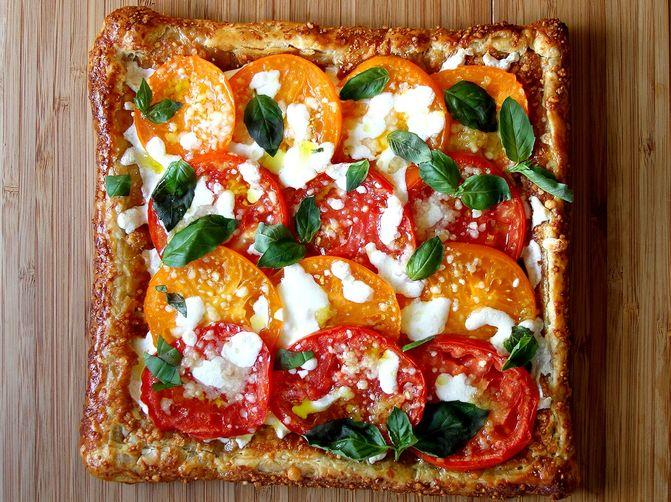 Heirloom Tomato Caprese Tart Recipe on Food52