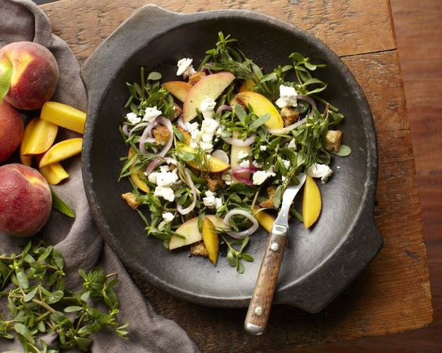 Purslane-Peach Salad