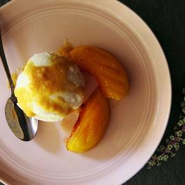 Milk Ice Cream & Grilled Honey Peach