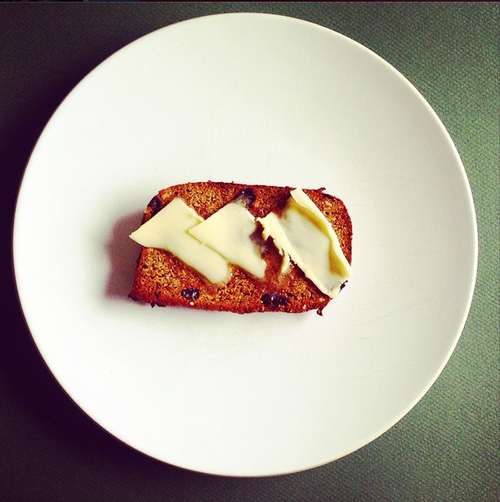 Carrot and raisin toast