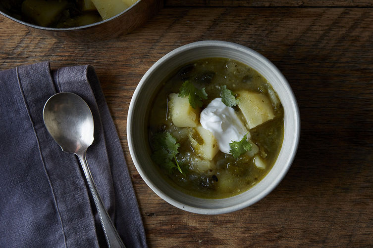 Deborah Madison's Potato and Green Chile Stew