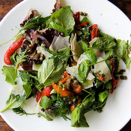 Roastedredpeppersaladwithcapersandbasil