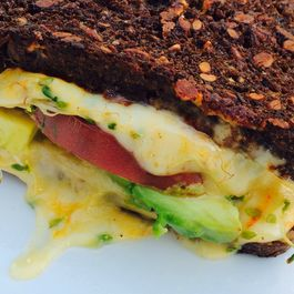 Grilled Rye with Muenster, Avocado, and Sprout