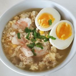 Chinese Shrimp & Egg Flower Soup (蛋花湯)
