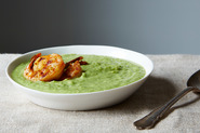 Green Gazpacho with Chili Cumin Shrimp