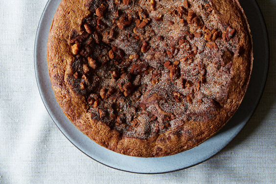 Chocolate Chip Sour Cream Coffee Cake with Apples Recipe on Food52