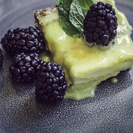 lemon & blackberry goat cheese tarts