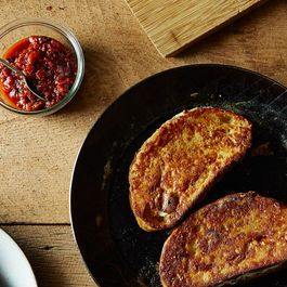 Mozzarella in Carrozza with Sun-Dried Tomato and Roasted Red Pepper Jam