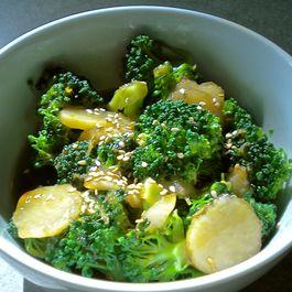 Orange Sesame Glazed Broccoli and Water Chestnuts