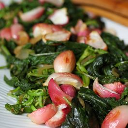 Roasted Radishes with Wilted Greens