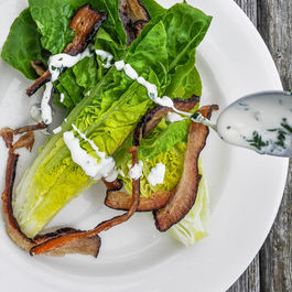 Little Gem Salad with Crème Fraîche and Bacon