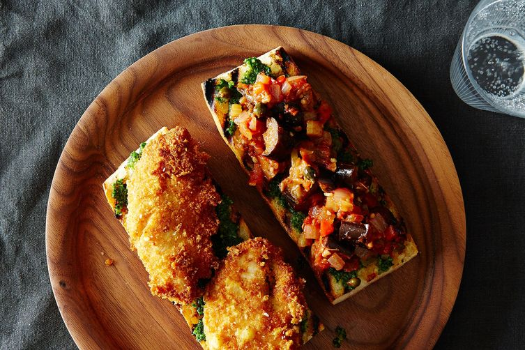 Parmesan Pesto Chicken Sandwich with Caponata