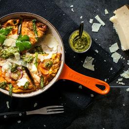 Sweet Potato & Manchego Tortilla w Coriander Mojo
