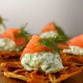 Latke and Smoked Salmon Stacks