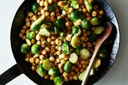 Brussels Sprouts and Chickpeas
