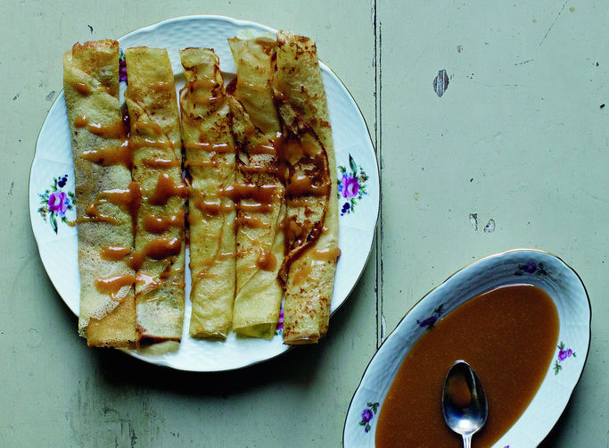 Crepes With Salted Lemon Butter Caramel Recipes — Dishmaps