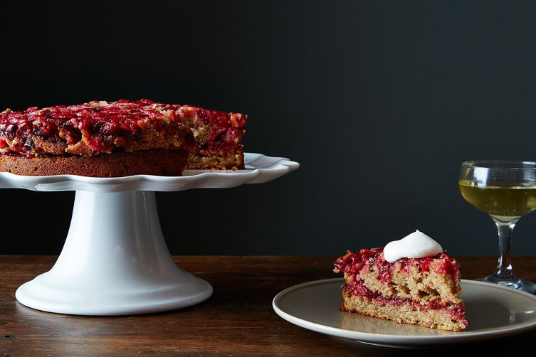 Double Layer Cranberry Ginger Upside-Down Cake Recipe on Food52