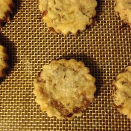 Savory Caraway Cookies with Caramelized Onions and Parmesan