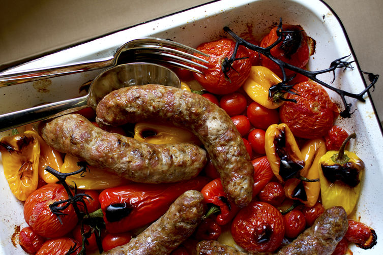 F52 roasted sausages